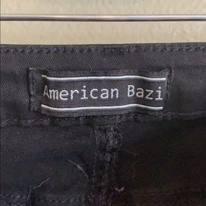 American Bazi Jeans - American Bazi super distressed black jegging